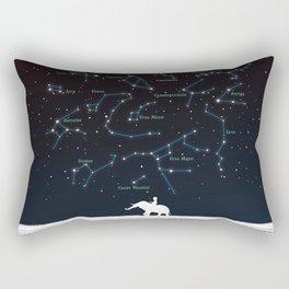 Falling star constellation Rectangular Pillow