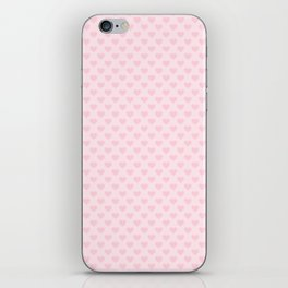 Large Light Soft Pastel Pink Love Hearts iPhone Skin