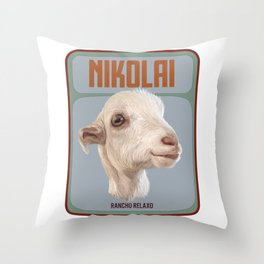 Rancho Relaxo Fundraiser: In Memory of Nikolai Throw Pillow