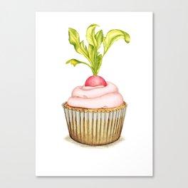 Radish cupcake Canvas Print