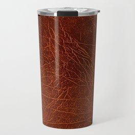 Brown leather look #2 Travel Mug
