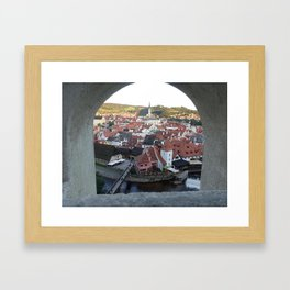 Cesky Krumlov, Czech Republic Framed Art Print