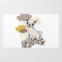 chihuahua Area & Throw Rugs featuring Chihuahua by Camille Roy