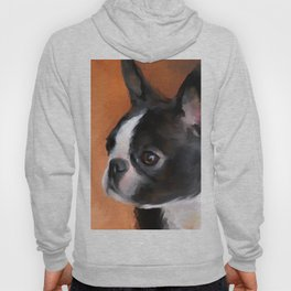 Perky Boston Terrier Hoody