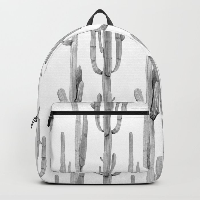 Cactus Climb Black and White Backpack