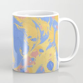 Yellow & blue paint Coffee Mug