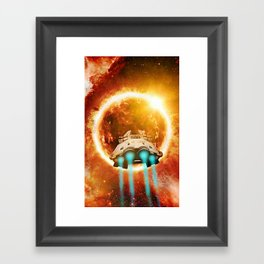 Go Where The Light Takes You Framed Art Print