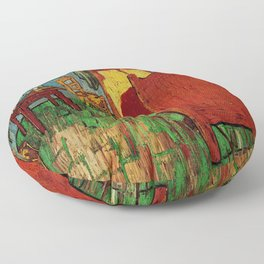 Van Gogh, bedroom in arles– Van Gogh,Vincent Van Gogh,impressionist,post-impressionism,brushwork,pai Floor Pillow