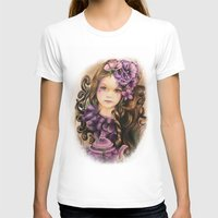 lavender T-shirts featuring Lavender by Sheena Pike ART
