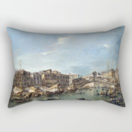 Francesco Guardi Grand Canal with the Rialto Bridge, Venice Rectangular Pillow