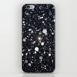 Moon in a snowstorm iPhone Skin