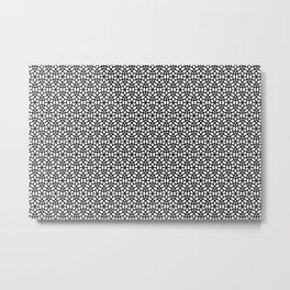 Round circles pattern geometric design white and black Metal Print
