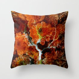 Amber Soul Wisdom Veins Throw Pillow