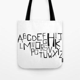Alphabet #2 Tote Bag