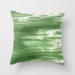 Fern green abstract watercolor Throw Pillow
