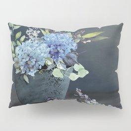 Bucket of Blue Hydrangeas Pillow Sham
