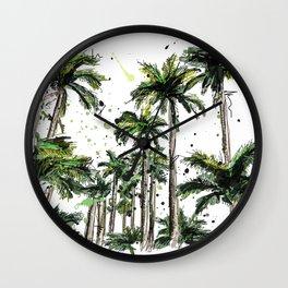 Palm-trees Wall Clock