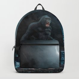 Godzilla vs Kong in the moonlight Backpack