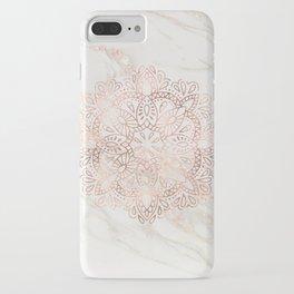 Rose Gold Mandala Marble iPhone Case