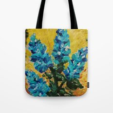 SHADES OF BLOOM - Stunning Floral Abstract Modern Home Decor Hyacinths Bright Bold Color Garden 2012 Tote Bag