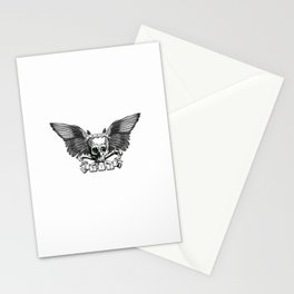 Live/Die Winged Skull Stationery Cards