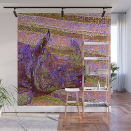 Abstract  Rhinoceros Wall Mural