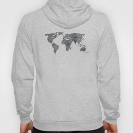 Map of the world from crumbling walls Hoody