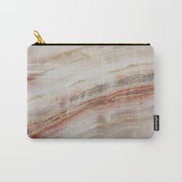 Brown Marbel with Gold Carry-All Pouch