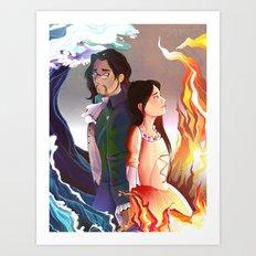 Hurricane/Burn paralell Art Print