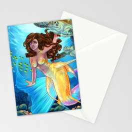 Hawaiian Mermaid Stationery Cards