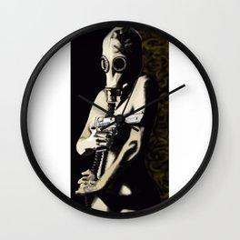 Gas Mask Girl Wall Clock