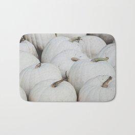 White Pumpkins Bath Mat