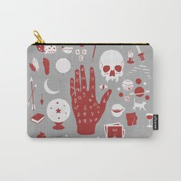 Methods of Divination - Gray & Red Carry-All Pouch