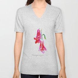 Copihue Flower Unisex V-Neck