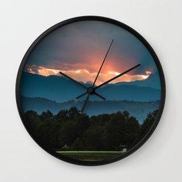 Last rays of sun before sunset Wall Clock