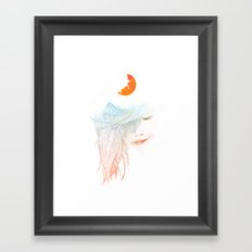 Sleepy Framed Art Print