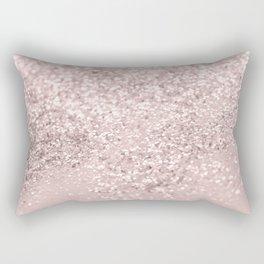 Blush Glitter Dream #1 #shiny #decor #art #society6 Rectangular Pillow