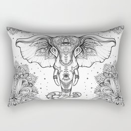 Beautiful hand-drawn tribal style elephant Rectangular Pillow
