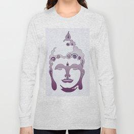 Buddha Head violet - grey Long Sleeve T-shirt
