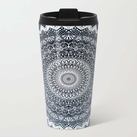 COLD WINTER MANDALA Metal Travel Mug
