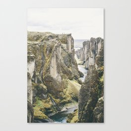 The Fjaðrárgljúfur canyon  (part 3) Canvas Print