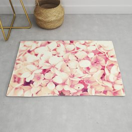 Rose Pink Flowers (Hydrangea) Rug