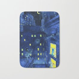 music of the night Bath Mat