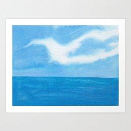 White Dove Sky Art Print