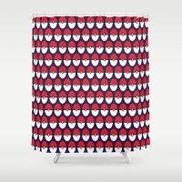 pokeball Shower Curtains featuring Pokeball Pattern by Jennifer Agu