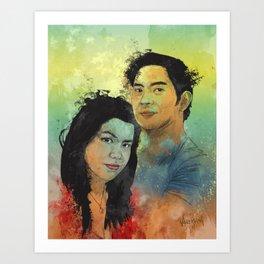 Gidget and Nino Art Print