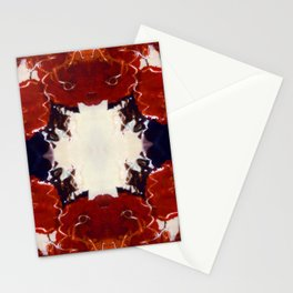 Red Rosie Photographic Pattern Stationery Cards