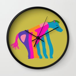 Horse Of Many Colors Wall Clock