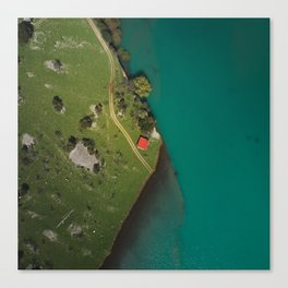 The house in the middle of nowhere Canvas Print