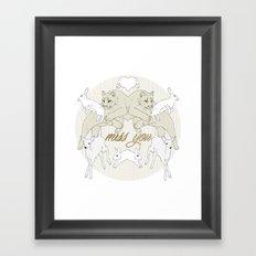 Miss You (Kitsch Symmetry series)  Framed Art Print